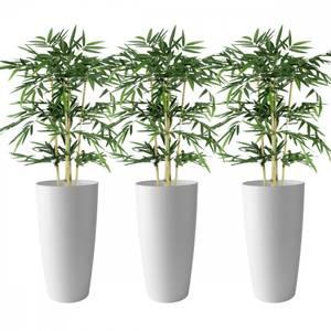 Bilde av 3 Stk Kunstige Bambus i Designpotter 150cm