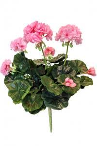 Bilde av Kunstig Geranium Rosa 40cm