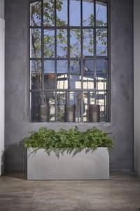 Bilde av Plantekasse Polyester Kube 80cm Sement